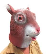 halloween cosplay costume animal head lion cow squirrel mask full