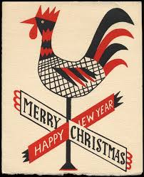 rooster weathervane card c 1950s pictures i like