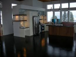 kitchen hanging pendant lights kitchen floor modern black stain concrete light brown island base