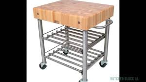john boos cucina d u0027amico kitchen carts butcher block co youtube