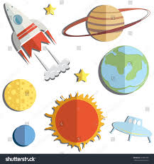 vector illustration bright set kids space stock vector 222697300