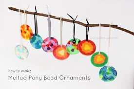 melted pony bead ornaments danya banya