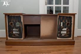 Audio Cabinet Rack Rebuild And Modernize An Old Stereo Console U2013 Diy Old House Crazy