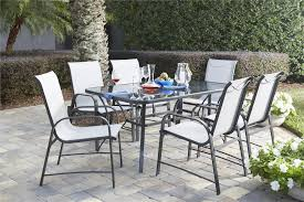 Steel Patio Furniture Sets - cosco outdoor products cosco outdoor living 7 piece paloma steel