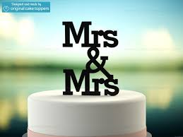 wedding cake toppers mrs mrs black wedding cake topper original