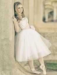 strapless ballerina style tulle tea length wedding dress 2664601