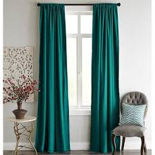 Teal Eyelet Blackout Curtains Interesting Teal Blackout Curtains And Print And Embossed Leaf