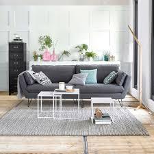 salon canapé gris un canapé 4 possibilités joli place
