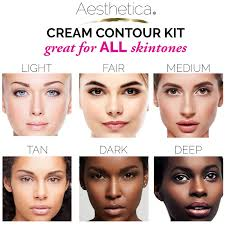 amazon com aesthetica cosmetics cream contour and highlighting