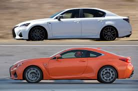 lexus sedans 2016 gs f vs rc f 5 reasons to choose the sedan or the coupe