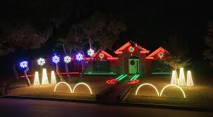 christmas light show packages family home lit up by incredible dubstep christmas light show