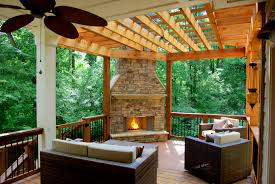 home design deck ideas with fireplace building designers