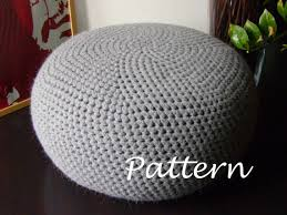 Crochet Ottoman Pattern Crochet Pattern Diy Tutorial Xl Large Crochet Pouf Poof Ottoman