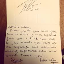 wedding gift note rgiii sent fan a wedding gift thank you note fox13now