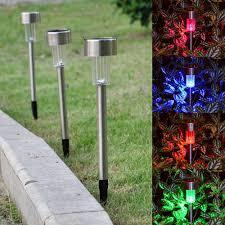Landscape Path Light 12pcs Garden Outdoor Stainless Steel Led Solar Landscape Path