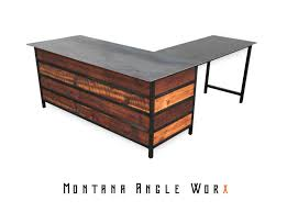 Rustic Office Desk Refined Vintage Industrial Executive Office Desk Available For