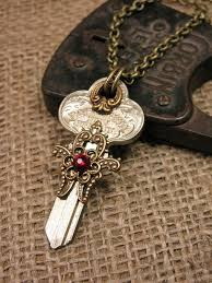 vintage key pendant necklace images Creative ideas to turn vintage keys into new jewelry sortashion jpg
