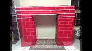 homemade christmas diy fake fireplace youtube
