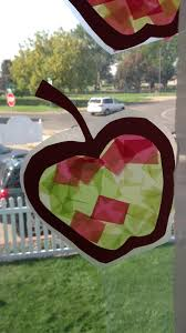contact paper apples preschool september themes pinterest