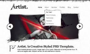 artist sketch responsive html template best css website gallery