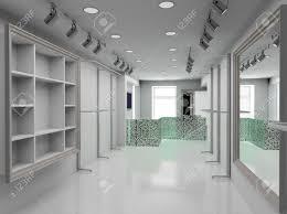Modern Design Interior Of Shop D Render Stock Photo Picture And - Modern boutique interior design