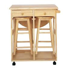 Wooden Kitchen Trolley With Stools  Cosy Home Blog - Kitchen table with stools underneath