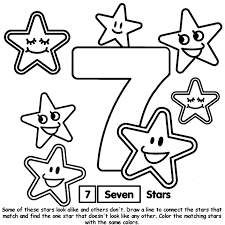 number 7 coloring getcoloringpages