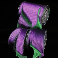 mardi gras ribbon wire edge two tone mardi gras ribbon everyday summer ribbon
