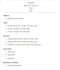 basic resume outline objective simple resume sles 18 cv template basic curriculum vitae format
