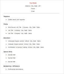 basic resume outline objective simple resume sles 18 cv template basic curriculum vitae format