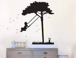 swing in tree your decal shop nz designer wall art decals swing in tree