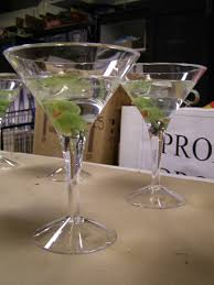 mini plastic martini glasses fake u0027n bake dirty martinis