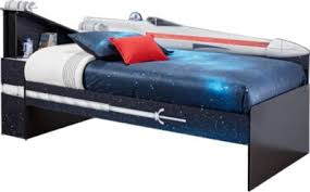 Rooms To Go Sofa Beds Star Wars X Wing Black 3 Pc Left Twin Bookcase Bed Beds Black