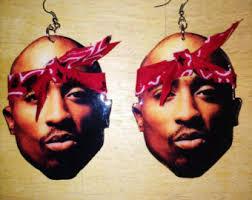tupac earrings erykah badu earrings