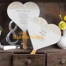 wedding program fans cheap luxury wedding invitations program fans antique design heart