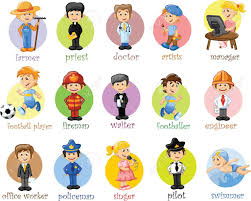 cartoon characters of different professions royalty free cliparts