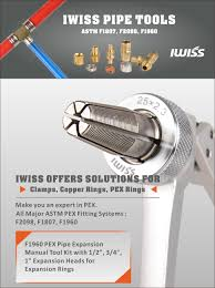 iwiss f1960 pex pipe expansion manual tool kit with 1 2