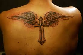 wings with cross tattoo photos pictures and sketches tattoo