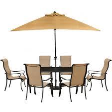 hanover brigantine 7 piece glass top rectangular patio dining set