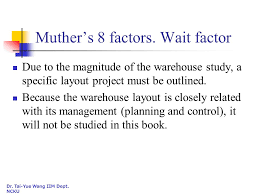 warehouse layout factors introduction operations analysis and improvement 2010 spring ppt