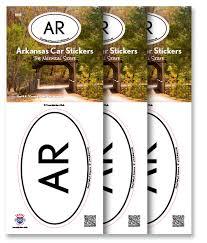 Arkansas Travel Products images Arkansas state sticker 3 pack travel sticker club jpg