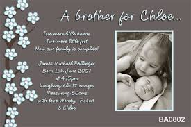 blue blossom sibling boy birth announcement cards using your own