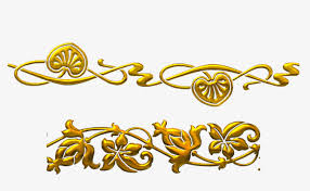 gold pattern western style frame decorative elements png and psd