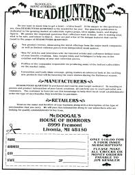 halloween monster names headhunters quarterly vol 3 num 3 blood curdling blog of