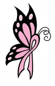 butterfly cancer ribbon drawing cancer ribbon butterfly tattoos