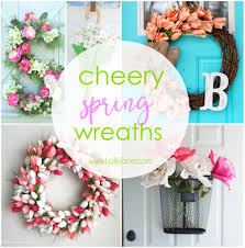 cheery spring wreaths lolly jane