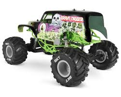 bigfoot electric monster truck smt10 grave digger 4wd rtr monster truck by axial racing axi90055