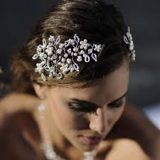 jewelled headdress vintage vine headdress pearl and swarovski vintage wedding