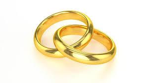interlocked wedding rings realistic golden wedding rings stock footage 4384178