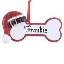 personalized santa dog bone ornament christmas ornament miles